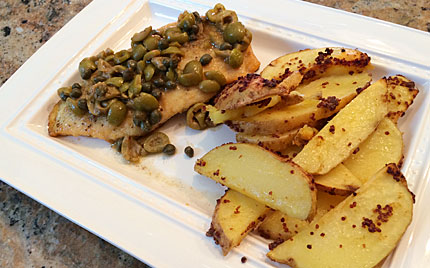 Chicken with Mustard Roasted Potatoes